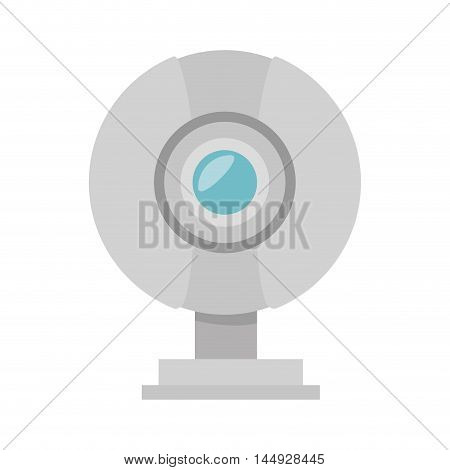 web cam camera video chat technology digital device vector illustration