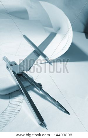 engineer's work table