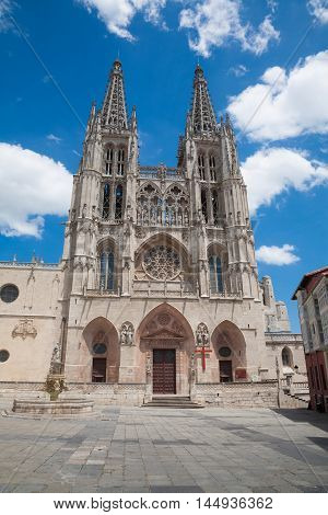 St Mary Cathedral In Burgos City