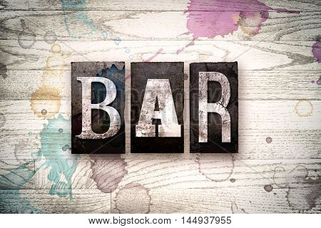 Bar Concept Metal Letterpress Type