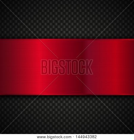 Red and black metallic background, Abstract vector metal background