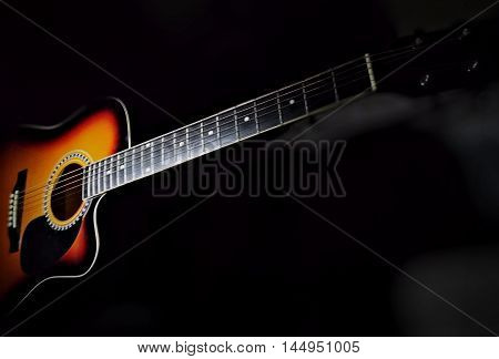 musical instrument, six string acoustic guitar, music