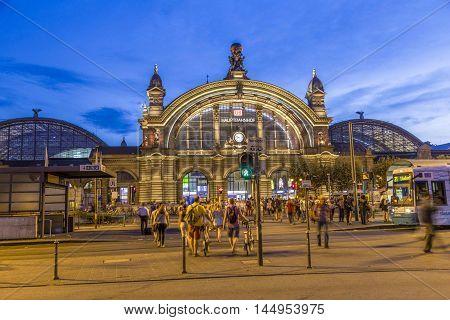 People In Front Of Deutsche Bahn Railway Central Station