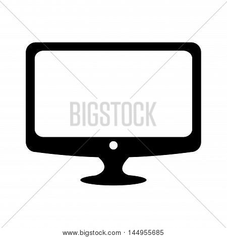 monitor pc computer screen device technology computer vector illustration