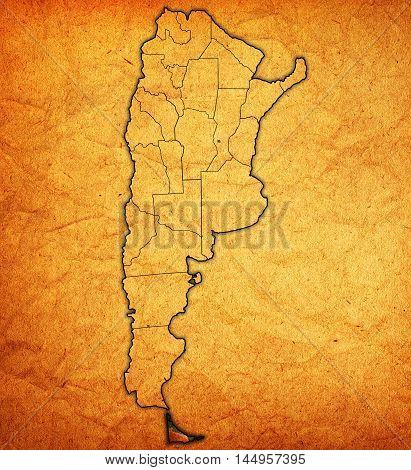 Tierra Del Fuego Region Territory In Argentina