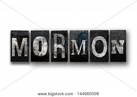 Mormon Concept Isolated Letterpress Type