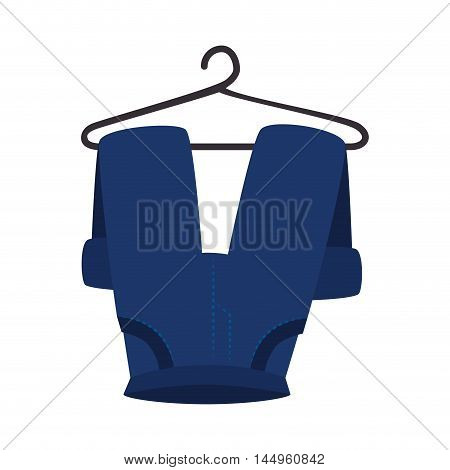 clothes laundry pants hanging wash laundry housework vector illustration