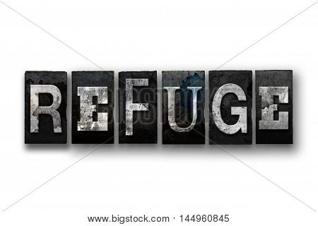 Refuge Concept Isolated Letterpress Type