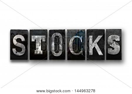 Stocks Concept Isolated Letterpress Type