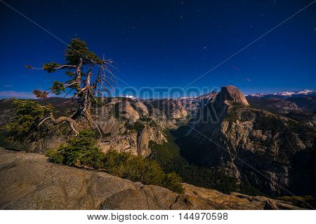 Glacier Point At Night Yosemite National Park