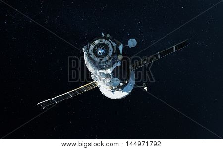 Spacecraft Launch Into Space. Elements of this image furnished by NASA