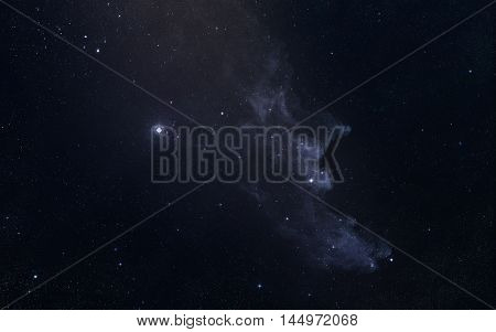 Starfield. Beauty of universe - Elements of this Image Furnished by NASA