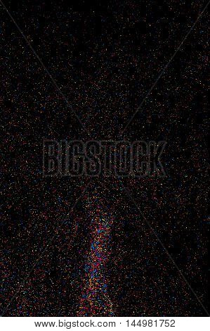 Colorful Explosion Of Confetti.  Colored Stains And Blots Vector.