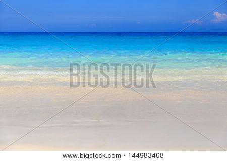 Crystal clear sea of tropical island Similan Thailand