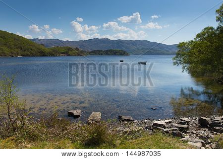 Loch Morar beautiful Scotish loch in the highlands West Scotland south of Mallaig