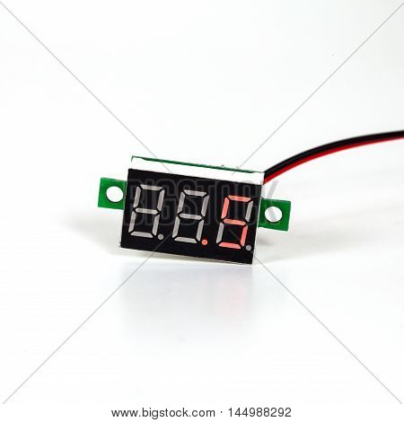 part of digital volt meter for dc volt