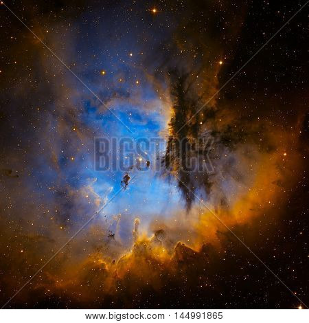 Pacman Nebula Is An Region In The Constellation Of Cassiopeia.