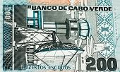 200 escudos of Cabo Verde. Cape Verdean escudos is the main currency of Cape Verde poster