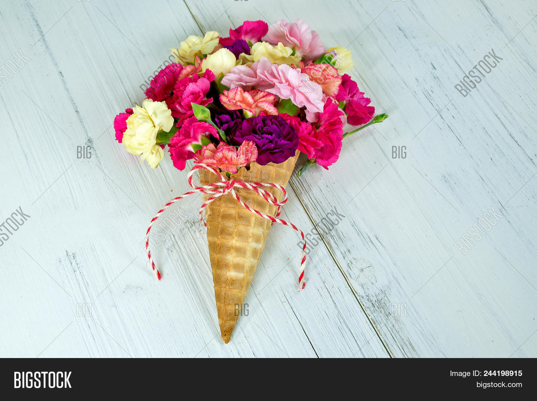Colorful Carnation Flower Bouquet Image & Photo   Bigstock