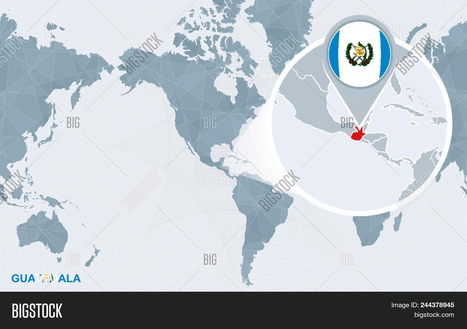Picture of: World Map Centered On Vector Photo Free Trial Bigstock