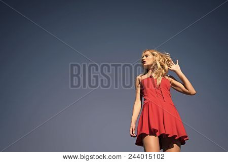 Sexy Girl. Girl With Sexy Legs, Loneliness. Beauty And Fashion, Look. Freedom And Expectation. Woman