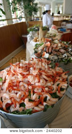 Shrimp Bucket At A Buffet
