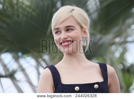 Emilia Clarke attends the photocall for 'Solo: A Star Wars Story' during the 71st annual Cannes Film Festival at Palais des Festivals on May 15, 2018 in Cannes, France.