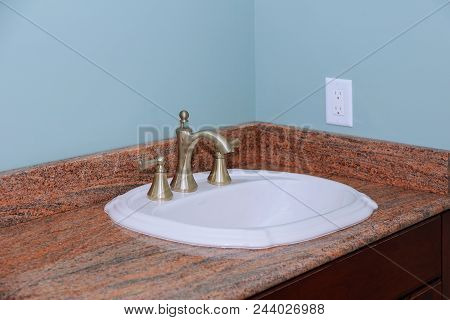 Modern Wash Basin Sink Counter Of Bathroom Interior Marble Counter New Bathroom