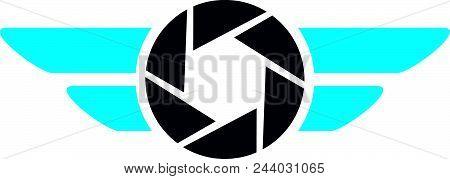 Aero Photography Logo Design Template Isolated Vector
