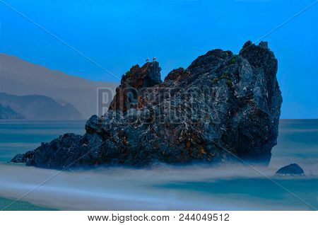 Guardians Watch: Mountains And Rocks In The Sea Of Cinque Terre Of The Coast Of Cinque Terre, Italy