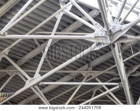 Structure Of Steel Roof Frame For Building Construction