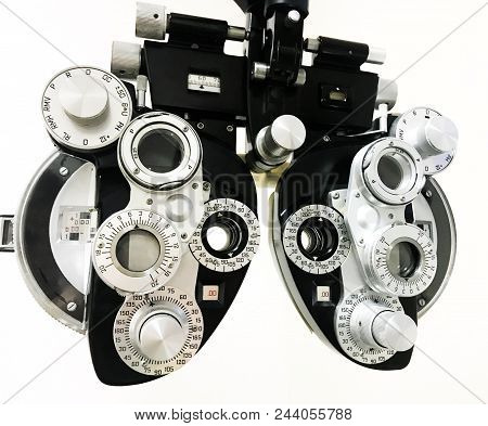 An Eye Vision Screening Device Isolated On White.