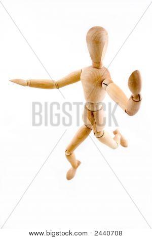 Model Posing Jump Position
