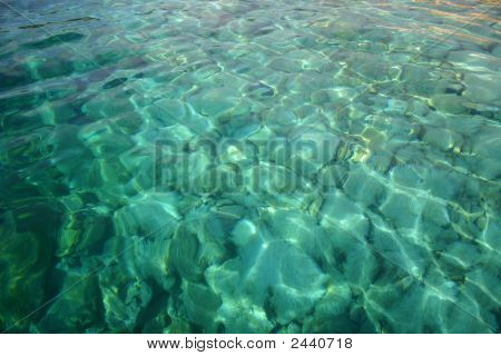 the transparent and green sea of croatia beaches poster