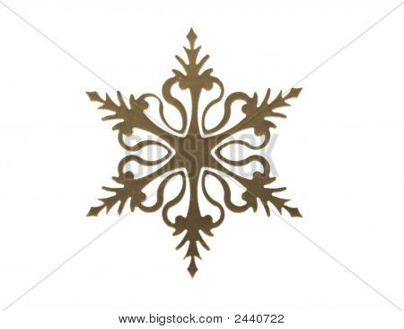 Frosted Laser Cut Snow Flake