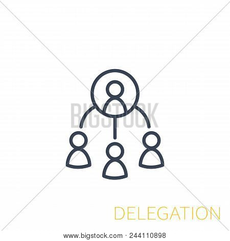 Delegation Icon, Linear, Eps 10 File, Easy To Edit