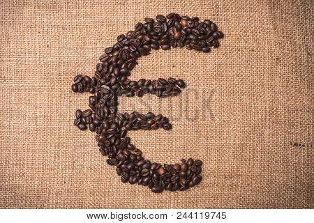 Euro Symbol Coffee Bean