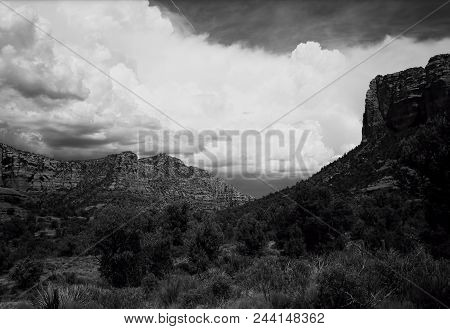 Storm Clouds Around The Mountains Sedona Arizona In The Morning Light