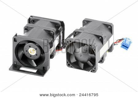 Two Dual-rotor Cabled Cooling Fans