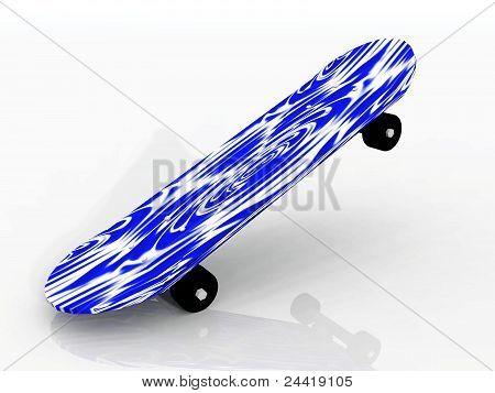 the blue skate