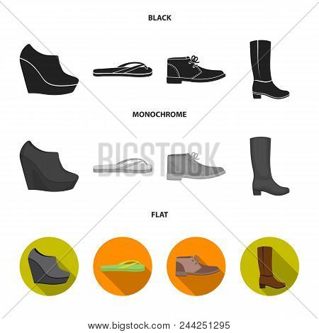 Autumn Black Shoes On A High Platform, Flip-flops Green For Relaxation, Sandy Men Autumn Shoes, High