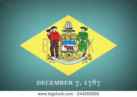 U.s. States Flag Of Delaware - Background