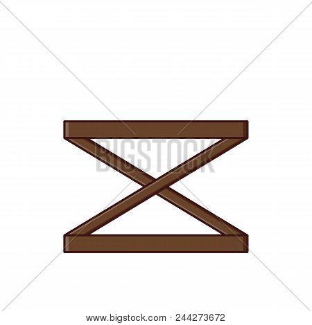 Coffee Table Icon In Flat Design. Vector Illustration. Retro Sty