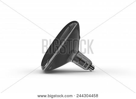 Cathode Ray Tube (crt) Isolated On White. 3d Rendering