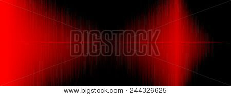 Equalizer, Sound Wave , Wave Frequencies, Light Abstract Background, Bright, Laser. Red Sound Waves