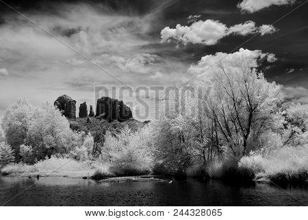 Infrared Cathedral Rock Sedona Arizona Morning Light