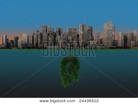 Nature And City Balance