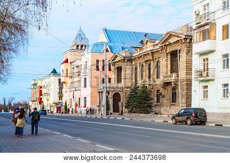 Russia, Samara, May 01, 2018: Samara Palace Of Children And Youth Creativity. Quiet Street In The Ci
