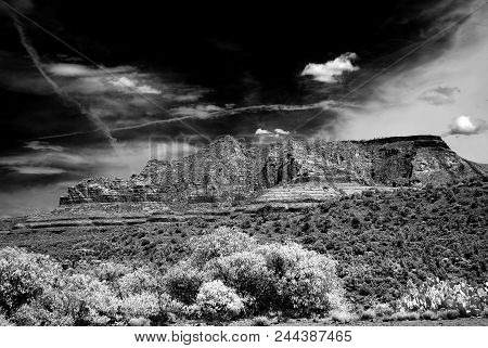 Infrared Image Sedona Arizona In The Morning Light