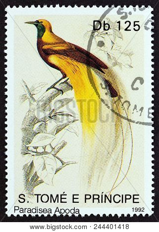 Sao Tome And Principe - Circa 1992: A Stamp Printed In Sao Tome And Principe From The